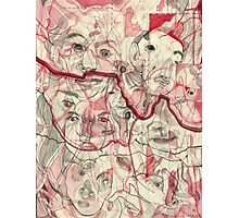 Map of Faces Photographic Print