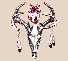 Heavy Heart Deer Antlers Unisex T-Shirt