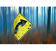 Road Sign  Photographic Print