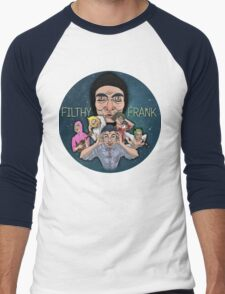 FILTHY FRANK & FRIENDS Men's Baseball ¾ T-Shirt