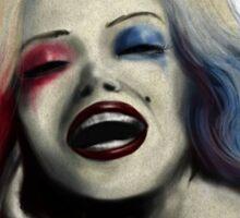 Marilyn Monroe as Harley Quinn Sticker