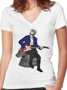 The 12th Doctor and K-9 Women's Fitted V-Neck T-Shirt