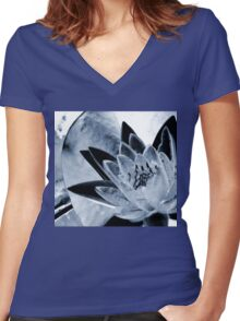 Crystal Clear Women's Fitted V-Neck T-Shirt