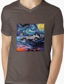 Pop Culture Mashup - Back to Van Gogh  Mens V-Neck T-Shirt