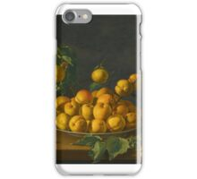 Luis Meléndez NAPLES  MADRID STILL LIFE WITH APRICOTS AND CHERRIES iPhone Case/Skin