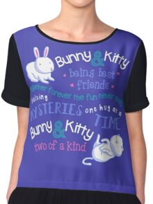 Bunny & Kitty Chiffon Top