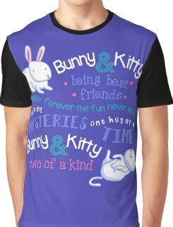 Bunny & Kitty Graphic T-Shirt