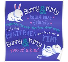 Bunny & Kitty Poster