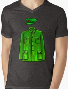 Mao Suit Mens V-Neck T-Shirt