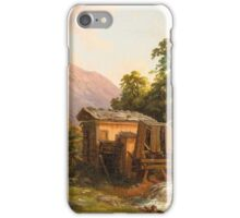 M. Heidmayer (Probably Austrian, 19th century.)  mountain spring with a view of a sunlit valley with people staffage 2 iPhone Case/Skin