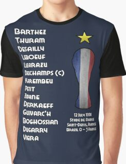 France 1998 World Cup Final Winners Graphic T-Shirt