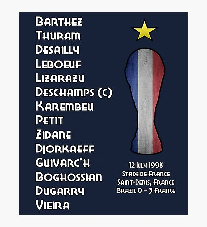 France 1998 World Cup Final Winners Photographic Print