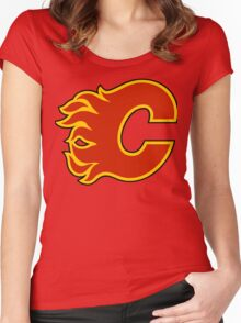 Calgary Flames Women's Fitted Scoop T-Shirt