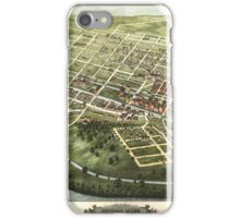 Maps Bird's eye view of Holyoke, Mass.   iPhone Case/Skin