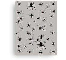 Creepy Spiders Pattern Canvas Print