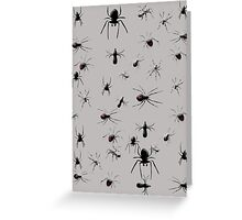Creepy Spiders Pattern Greeting Card