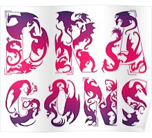 How Many Dragons - Red Poster