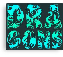How Many Dragons - Blue Canvas Print