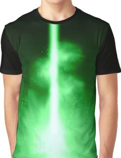 The glowing *green* center Graphic T-Shirt