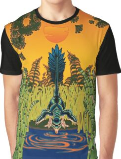 Troodon in the Rushes Graphic T-Shirt