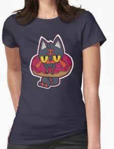 Litten Donut Womens Fitted T-Shirt