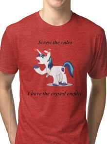 Shining armour Screw the rules Tri-blend T-Shirt