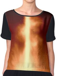 The glowing *red* center Chiffon Top