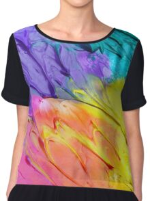 Paint Strokes Art Chiffon Top