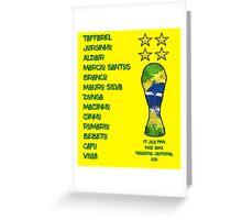 Brazil 1994 World Cup Final Winners Greeting Card