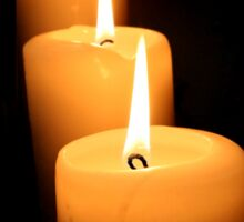 3 Candles Sticker