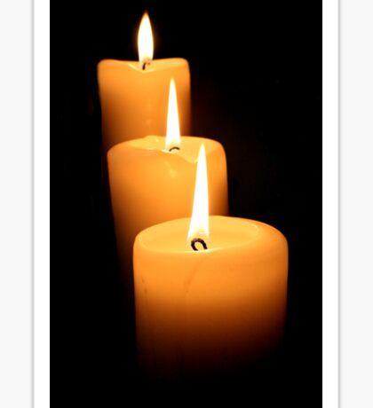 3 Candles Sticker