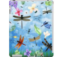 There Be Dragons - Dragonfly Art iPad Case/Skin
