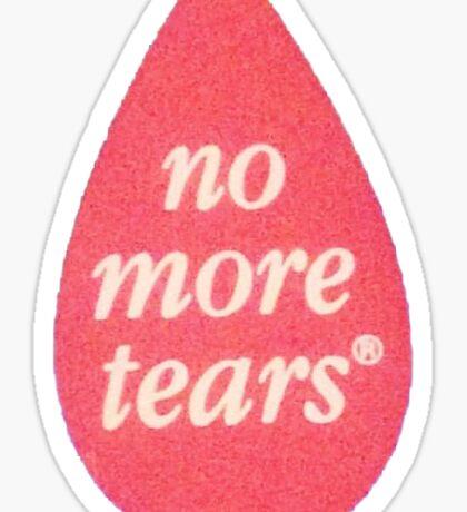 no more tears Sticker