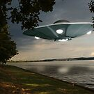 UFO Over Lake by Packrat