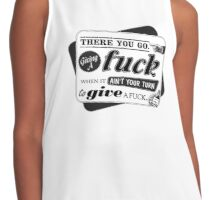 """Ain't Your Turn to Give a Fuck"" - The Wire (Light) Contrast Tank"