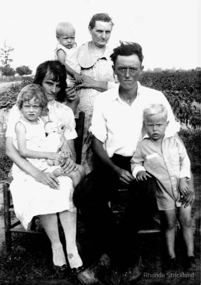 Cotton Fields of Arizona - Thompson Family 1930s by Rhonda Strickland