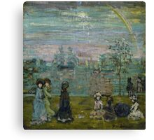 Maurice Brazil Prendergast (), PROMENADE WITH PARASOLS Canvas Print