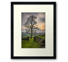 Sunset in the peak district Framed Print