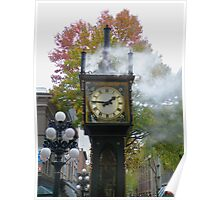 """Right on Time""  (Gastown Steam Clock, Vancouver, BC) Poster"