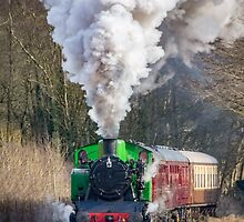 Steam train by alan tunnicliffe