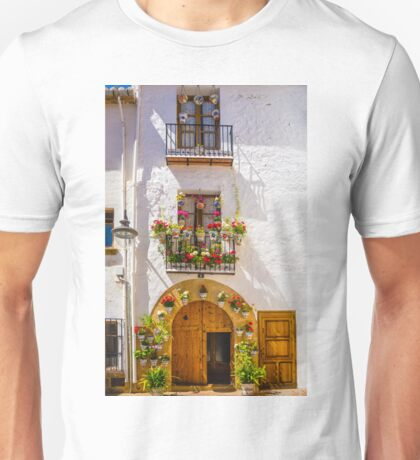 Doors windows and plants in pots Unisex T-Shirt