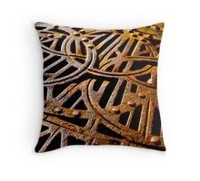 Rusty Grate Throw Pillow