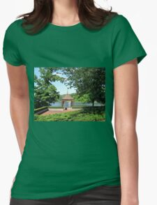 Let there be many windows to your soul, that all the glory of the world may beautify it. Womens Fitted T-Shirt