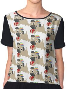 Pugs Love Everyone - Gay Pride Pug Chiffon Top