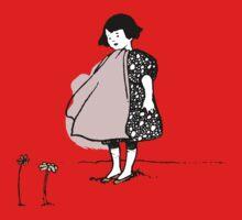 Flower Girl - Victorian illustration Kids Tee