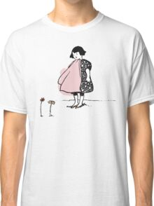 Flower Girl - Victorian illustration Classic T-Shirt