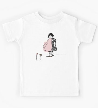 Flower Girl - Victorian illustration Kids Tee