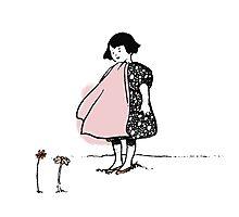 Flower Girl - Victorian illustration Photographic Print
