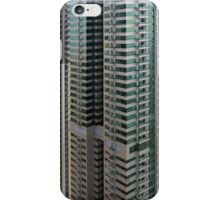 13 March 2016. Photography of pattern created from the facade with windows and balconies from skyscrapers from Dubai, United Arab Emirates. iPhone Case/Skin