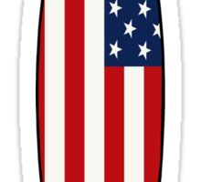 Surfboard (American Flag) Sticker
